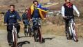Photo: Salman Khan cycles with Kiren Rijiju, Pema Khanda; Saif, Nushrat at Baazaar movie Success party