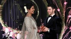 Photo: Nick Jonas and Priyanka Chopra celebrate wedding reception
