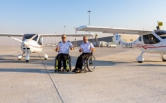 Photo: Dubai Airports and Execujet support two disabled aviators on quest to pilot around the world