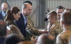 Photo: Prince William and Kate thank British troops in Cyprus