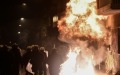 Photo: Fiery protests in Greece in memory of teenager killed by police