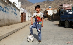 Photo: Afghan 'Messi boy' forced to flee home