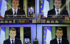 Photo: Macron vows tax cuts, pay rise; will France's anger subside?
