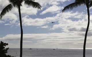 Photo: Pilot seriously injured after military jet crash off Hawaii