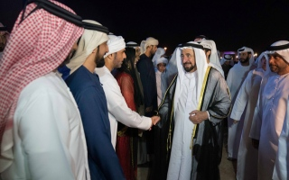 Photo: Sultan Al Qasimi attends opening of Sharjah Desert Theatre Festival