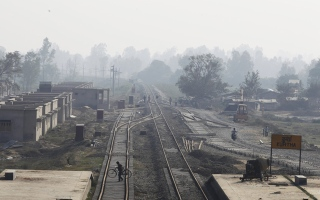 Photo: Himalayan nation Nepal gets first modern train tracks
