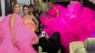 Photo: Jennifer Lopez's dress was so big it needed its own seat