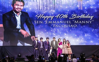 Photo: 'Stronger, faster' Pacquiao turns 40 with lavish birthday bash