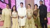 Photo: Salman, Sonakshi, Iulia at Azhar Morani and Tanya Seth wedding reception