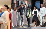Photo: Harry and Meghan meet therapy horses, take tea with Morocco's king