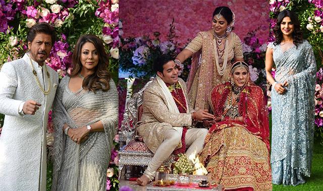 Akash Ambani and Shloka Mehta wedding: SRK, Priyanka Chopra