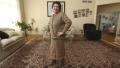 Photo: Woman makes suit of plastic bags