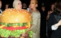 Photo: Katy Perry falls over dressed as hamburger