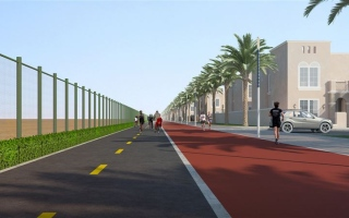 Photo: Nakheel pedals ahead with Dh8.6m cycle track at new Nad Al Sheba community