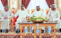 Photo: Mohammed bin Rashid receives Abu Dhabi Crown Prince