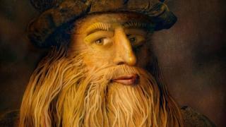Photo: Da Vinci portrait created with Italian food