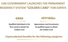 Photo: 'Golden Card': Permanent residency system for UAE's expats launches