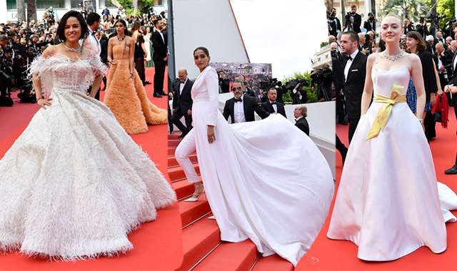 Cannes red carpet: Sonam Kapoor, Michelle Rodriguez, Dakota Fanning...