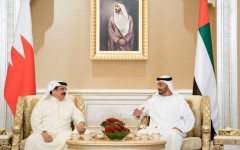 Photo: Mohamed bin Zayed, King of Bahrain deliberate regional developments