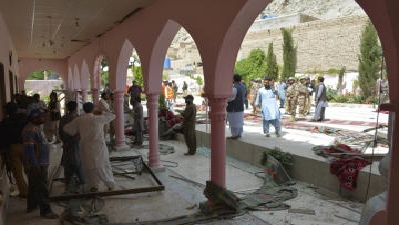 Photo: Bomb at Quetta mosque kills 2, wounds 28
