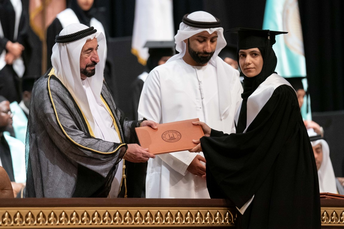 Photo: Sharjah Ruler attends graduation ceremony of Al Qasimia University