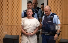 Photo: Anger as Christchurch mosque accused pleads not guilty