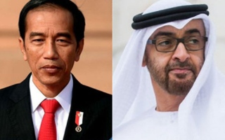 Photo: Mohamed bin Zayed, President of Indonesia review global fight against COVID-19