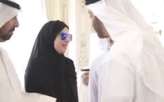 Photo: Proud to meet the caring father Mohamed bin Zayed: Amal Al Mansouri
