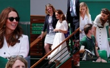 Photo: Britain's Kate darts out to the cheap seats at Wimbledon