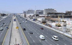Photo: 45% of road and bridge work leading to Dubai Hills Mall completed