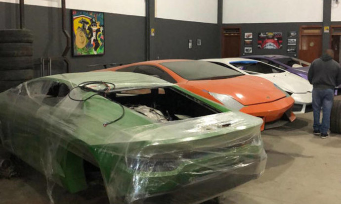 Phony Ferraris, 'Shamborghinis' seized at Brazil factory