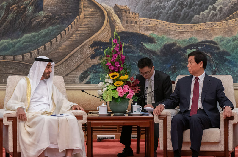 Photo: China's NPC Speaker receives Mohamed bin Zayed