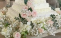 Photo: A couple create DIY wedding cake for under $40