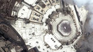 Photo: KhalifaSat captures image of Grand Mosque of Makkah during Eid Al Adha