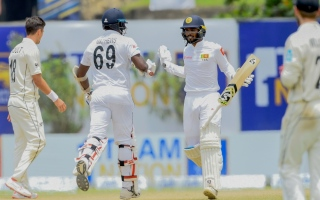 Photo: Sri Lanka beat New Zealand in first Test by six wickets