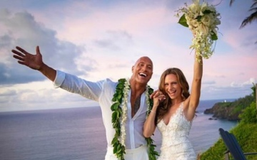 Photo: The Rock weds in secret ceremony