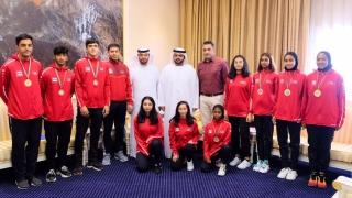 Photo: Fujairah CP receives Martial Arts Club players