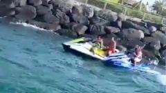 Photo: Dubai Police rescue young man from jet ski crash near Al Mamzar