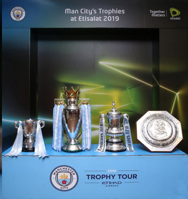 Manchester City Global Trophy Tour makes stop at Etisalat HQ