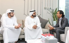Photo: Mohammed bin Rashid meets serial entrepreneur Divyank Turakhia