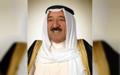 Photo: Kuwait Emir leaves hospital after successful checkups