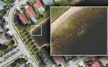 Photo: Google Earth leads to remains of missing Florida man in lake