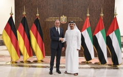Photo: Abdullah bin Zayed receives German official
