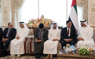 Photo: Mohamed bin Zayed receives Coordinating Minister for Maritime Affairs of Indonesia