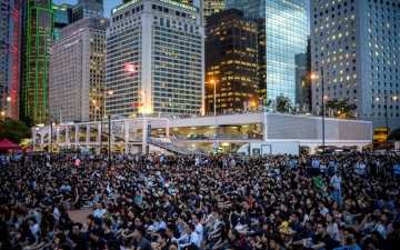 Photo: Hong Kong's summer of protests leaves economy bruised and battered