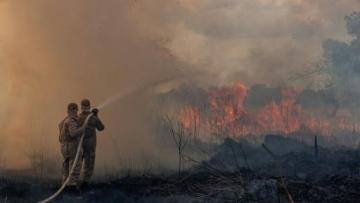 Photo: As global leaders meet, the Amazon rainforest burns