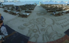 Photo: Filipino sand artist creates tribute for UAE's successful space journey