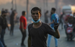 Photo: UN says 'this must stop' after violence in Iraq protests