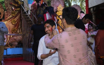 Photo: Brahmastra fired from Durga's shoulders