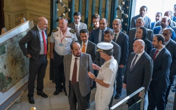 Photo: Sharjah Ruler visits Naval Museum of Madrid